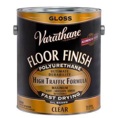 1 gal. Floor Finish Clear Gloss Premium Oil-Based Polyurethane (Case of 2)