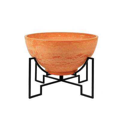 22 in. Dia Terra Cotta Large Modern Jane Stone Planter II