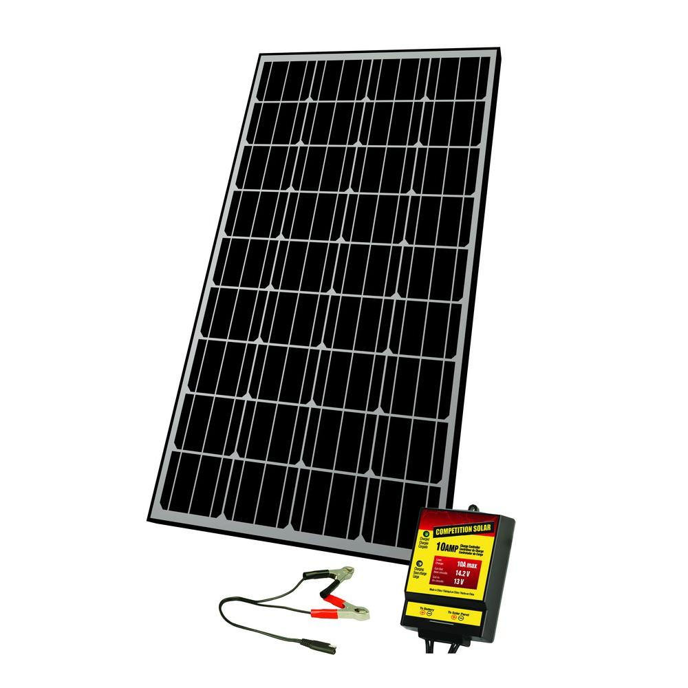 Competition Solar 145-Watt Monocrystalline Solar Panel for 12-Volt Charging