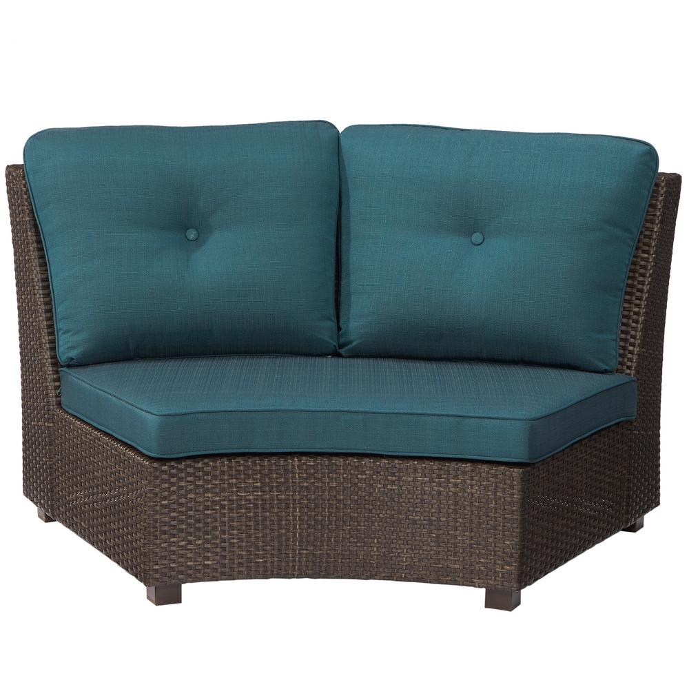 H&ton Bay Torquay Wicker Armless Middle Outdoor Sectional Chair with Charleston Cushion-FRS60557-C - The Home Depot  sc 1 st  The Home Depot : sectional chair - Sectionals, Sofas & Couches