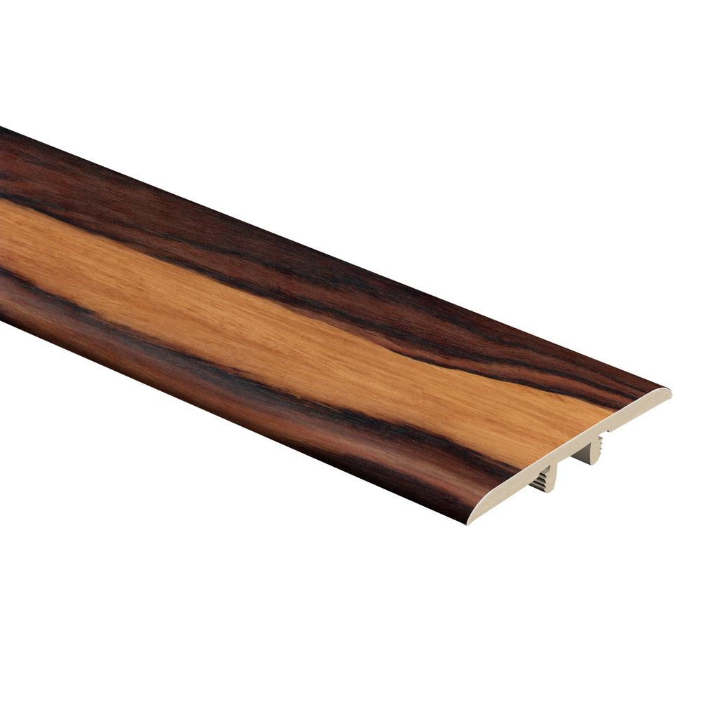 Zamma African Wood Dark 5/16 in. Thick x 1-3/4 in. Wide x 72 in. Length Vinyl T-Molding