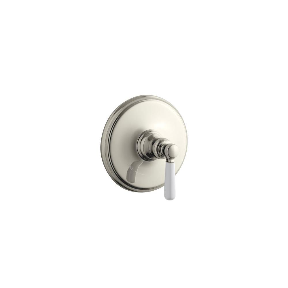 KOHLER Bancroft 1-Handle Thermostatic Valve Trim Kit in Vibrant Polished Nickel with Ceramic Lever Handle (Valve Not Included)