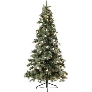 7.5 ft. Dunhill Pine Glitter Finish Christmas Tree with Clear and G40 Lights