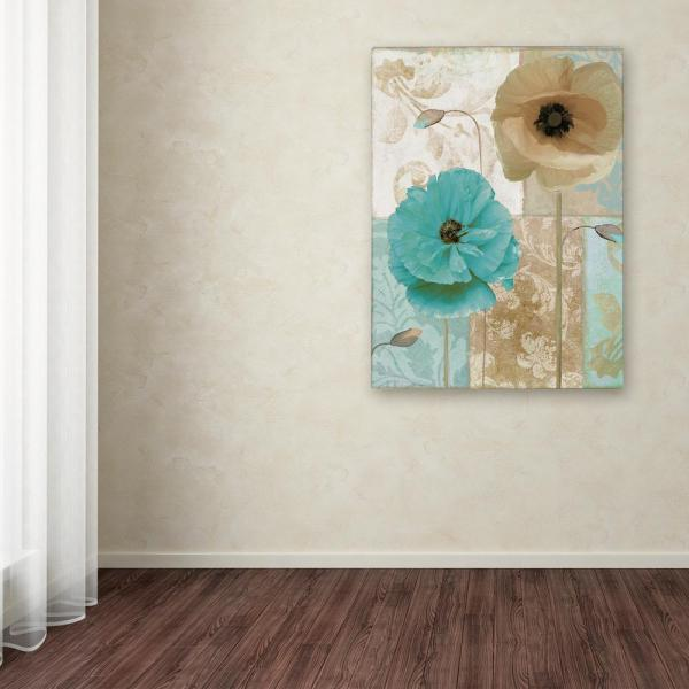 Trademark Fine Art 24 in. x 18 in. ''Beach Poppies I''