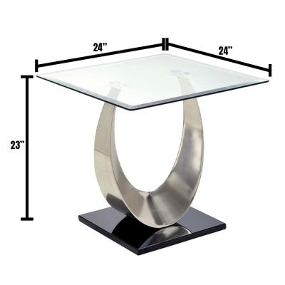 Orla II 23 in. Silver End Table