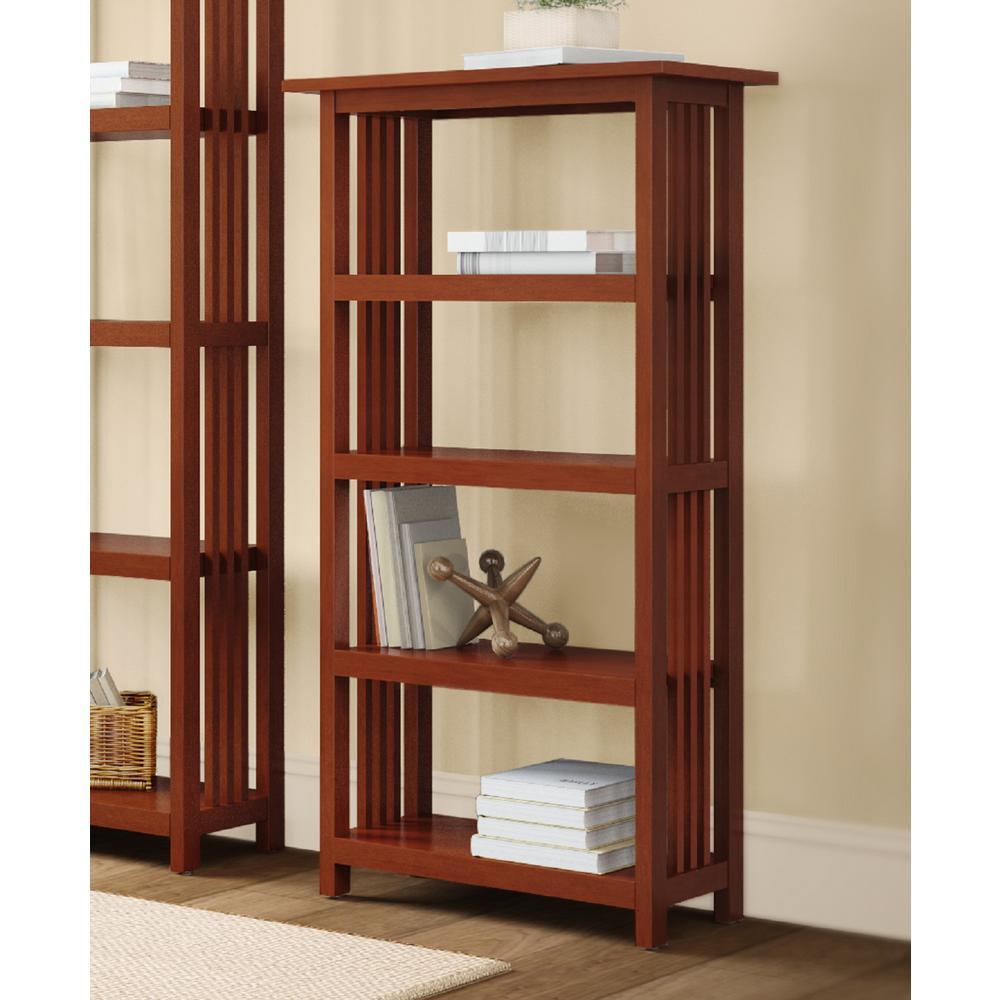 Alaterre Furniture Mission Cherry Open Bookcase AMIA0760