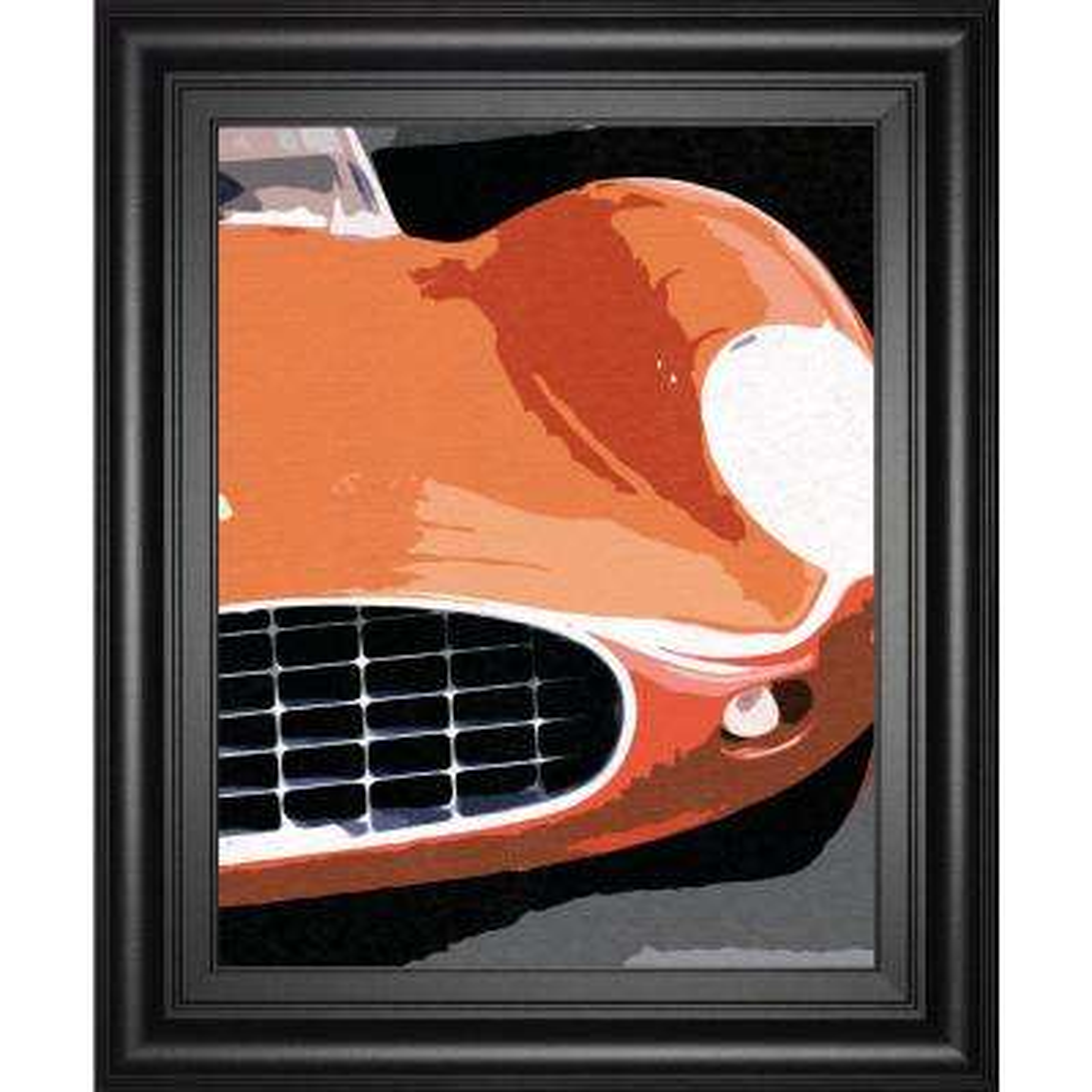 "22 in. x 26 in. ""Ferrari Classic"" by Malcolm Sanders Framed Printed Wall Art"