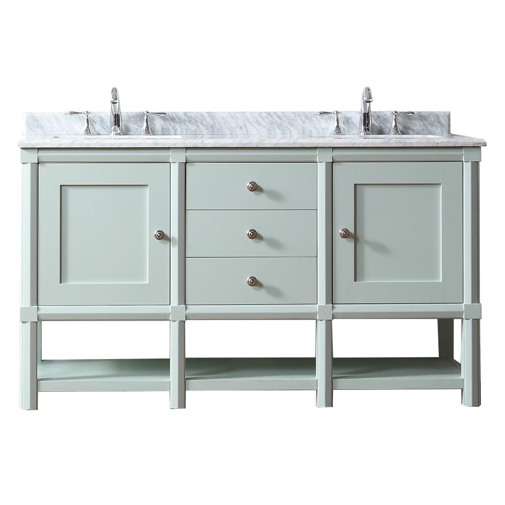 Martha Stewart Living Sutton 60 In. W X 22 In D Vanity In Rainwater With