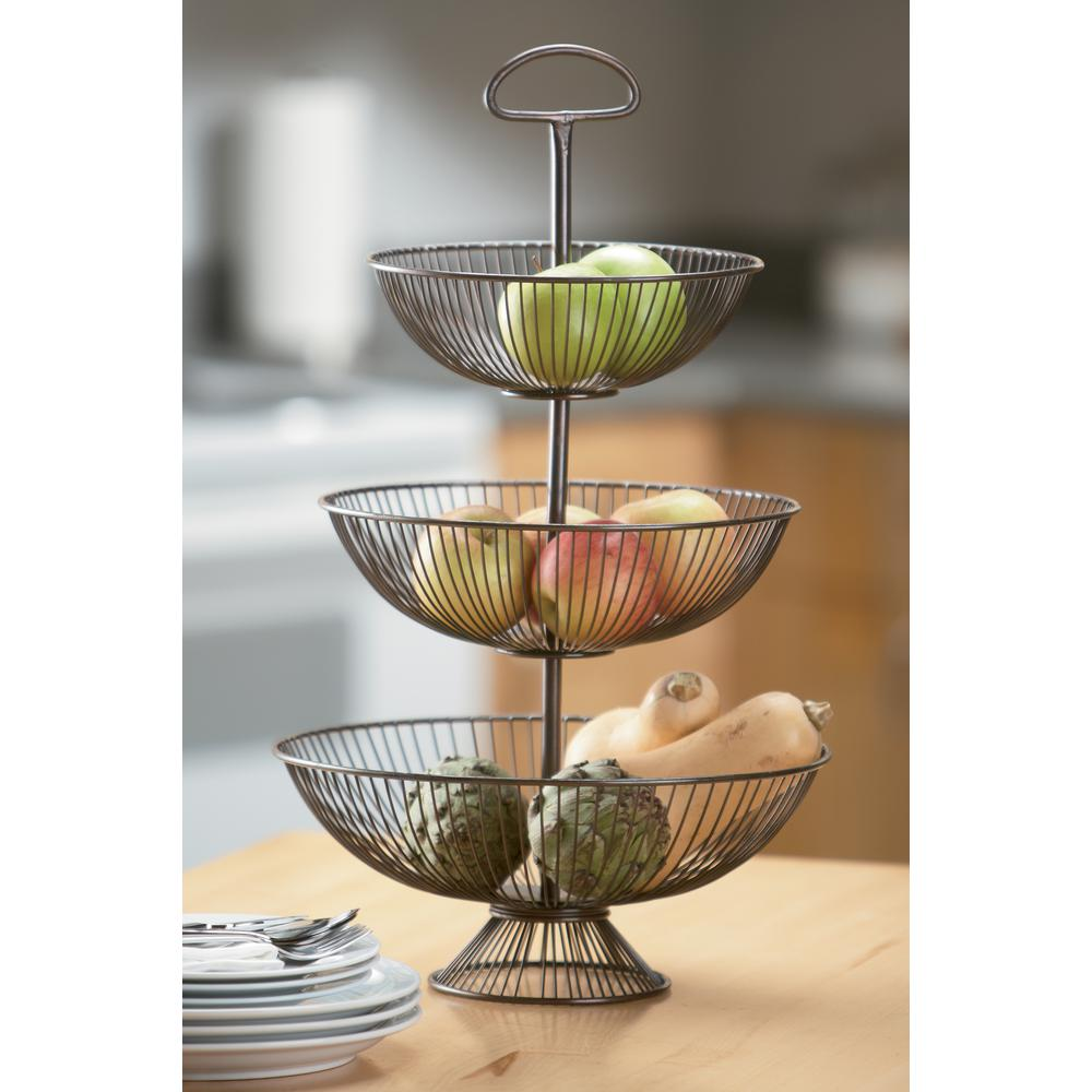 Kindwer 14 In X 24 In 3 Tier Wire Decorative Basket Stand A1032