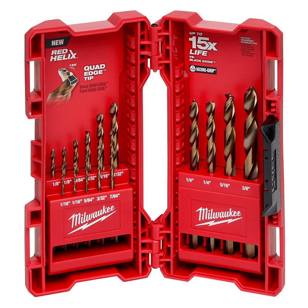 Cobalt Red Helix Drill Bit Set for Drill Drivers (15-Piece)