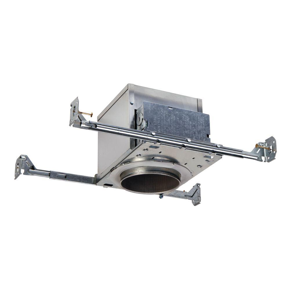 E26 4 in. Aluminum Recessed Lighting Housing for New Construction Ceiling,