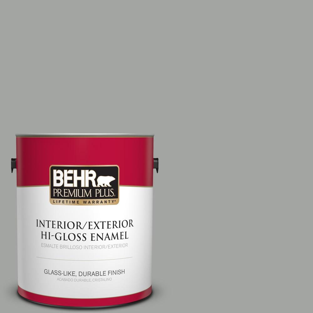 1 gal. #PPU24-18 Great Graphite Hi-Gloss Enamel Interior/Exterior Paint