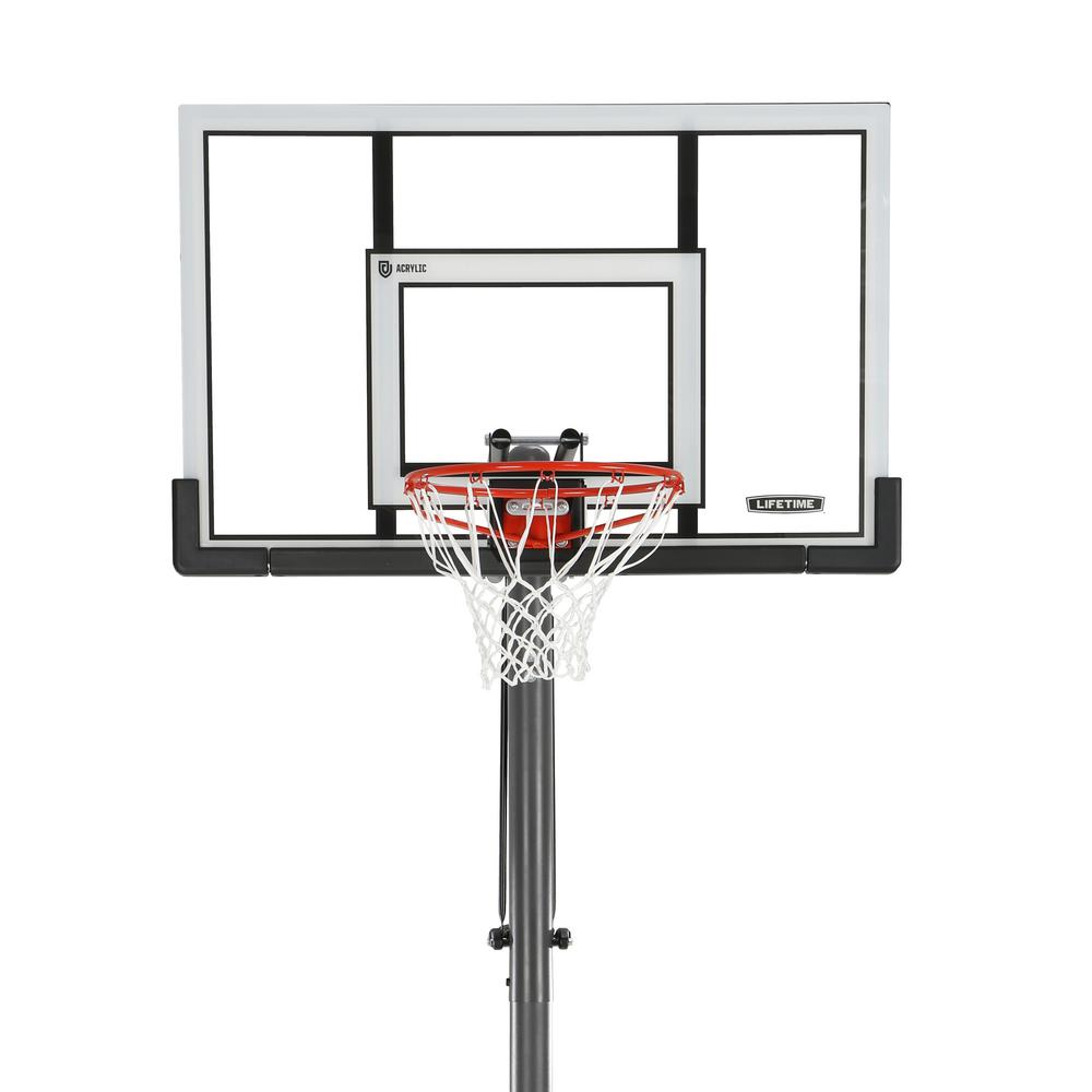 Steel Framed Acrylic Portable Basketball System Xl Base With Power