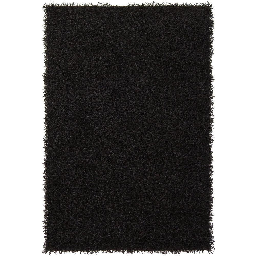 Zara Black 7 ft. 9 in. x 10 ft. 6 in. Indoor Area Rug