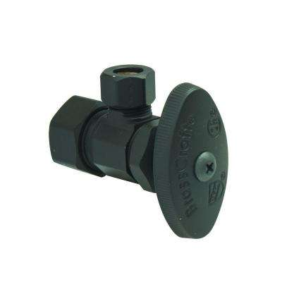 1/2 in. Nom Comp Inlet x 3/8 in. O.D. Comp Outlet Multi-Turn Angle Valve in Oil Rubbed Bronze