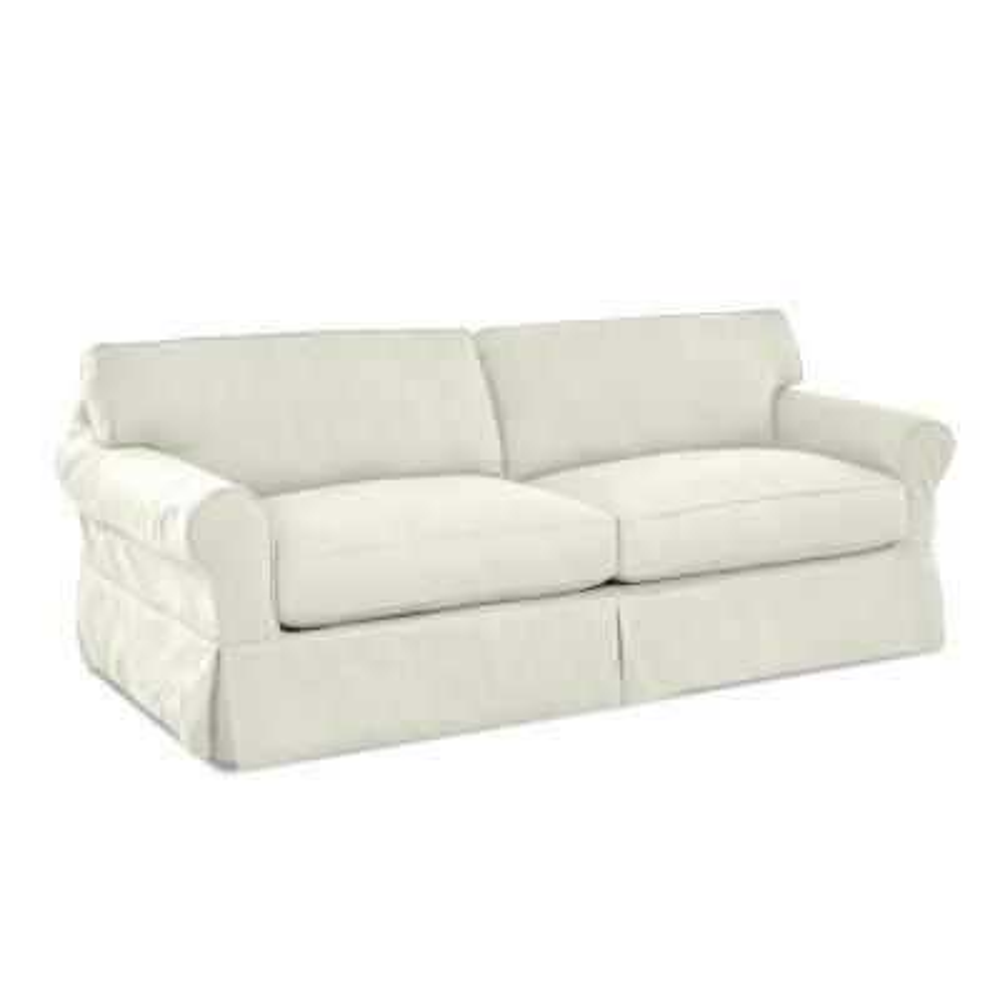 Olivia Down Blend slipcovered Sofa in Cream