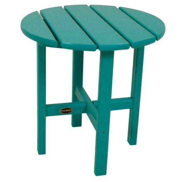18 in. Aruba Round Patio Side Table