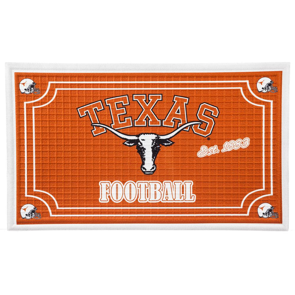 Evergreen University Of Texas 18 In. X 30 In. Embossed Welcome Mat
