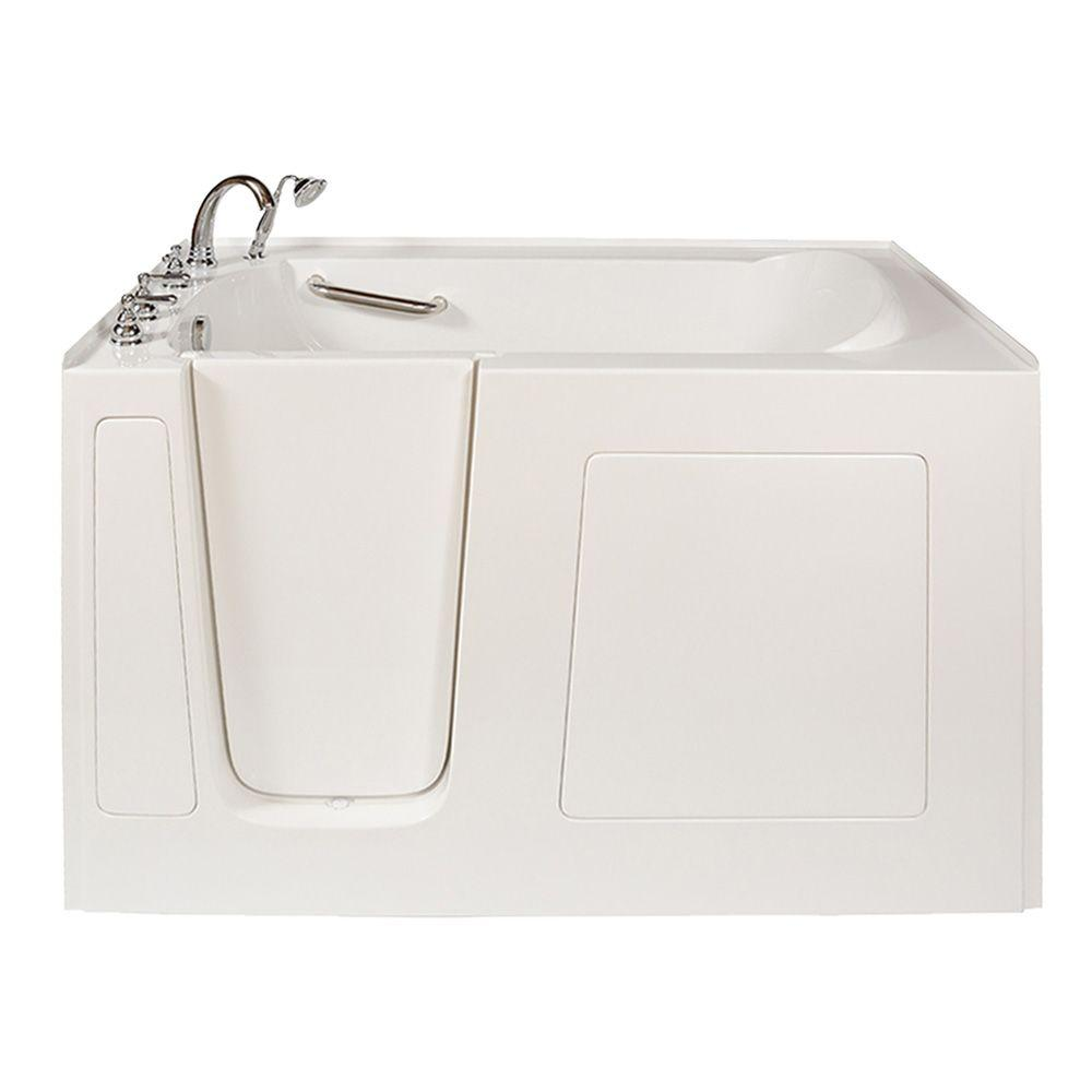 American standard town square 5 ft x 42 in center drain for How long is a standard tub
