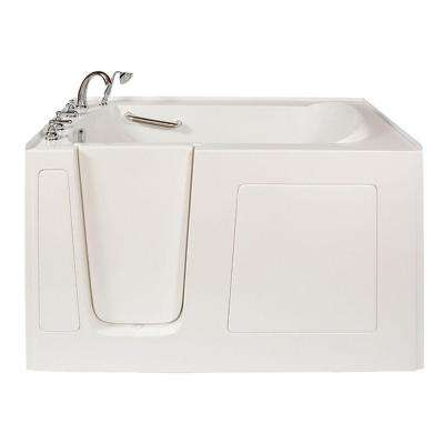 Long 5 ft. x 32 in. Walk-In Whirlpool and Air Bath Tub in White with Left Drain/Door