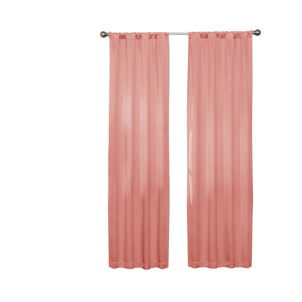 Darrell 84 in. L Coral Rod Pocket Curtain