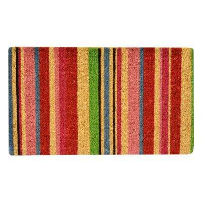 Outdoor Stripes 1 ft. 6 in. x 2 ft. 6 in. Coir Door Mat