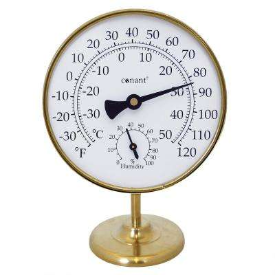 Vermont Portable Weather Station Living in Brass