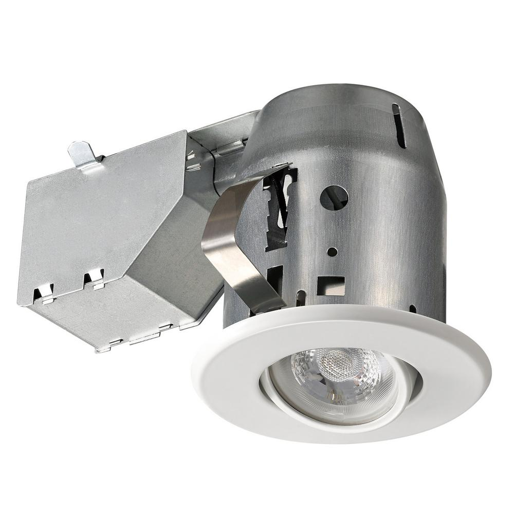 3.25 in. White Recessed Sleek Swivel Lighting Kit