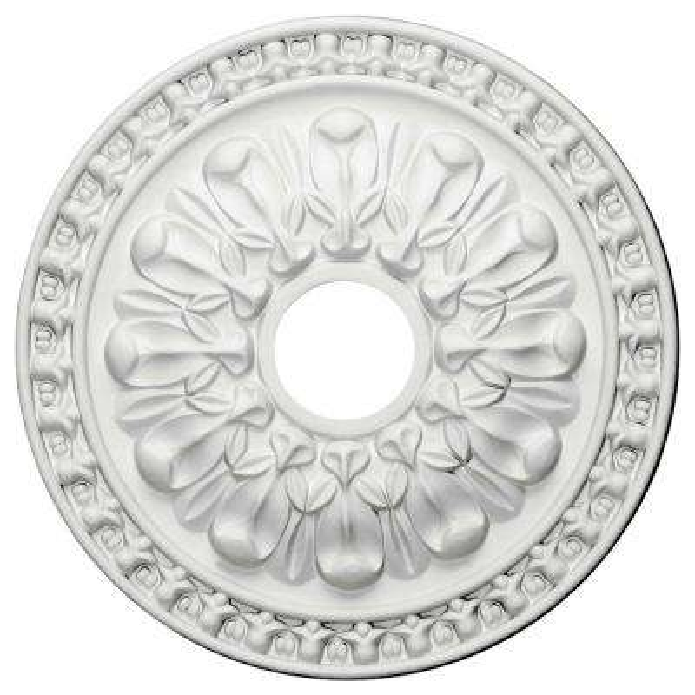 18 in. OD x 3-1/2 in. ID x 1-3/8 in. P (Fits Canopies up to 3-1/2 in.) Warsaw Polyurethane Ceiling Medallion