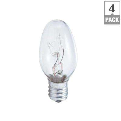 7-Watt C7 Incandescent Night-Light Replacement Light Bulb (4-Pack)