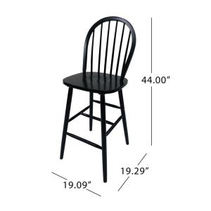 Excellent Noble House Tilbury Traditional Farmhouse 29 2 In Black Evergreenethics Interior Chair Design Evergreenethicsorg