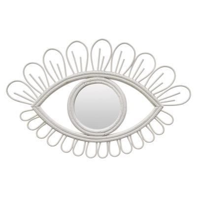 Small Oval White Modern Mirror (15 in. H x 1 in. W)