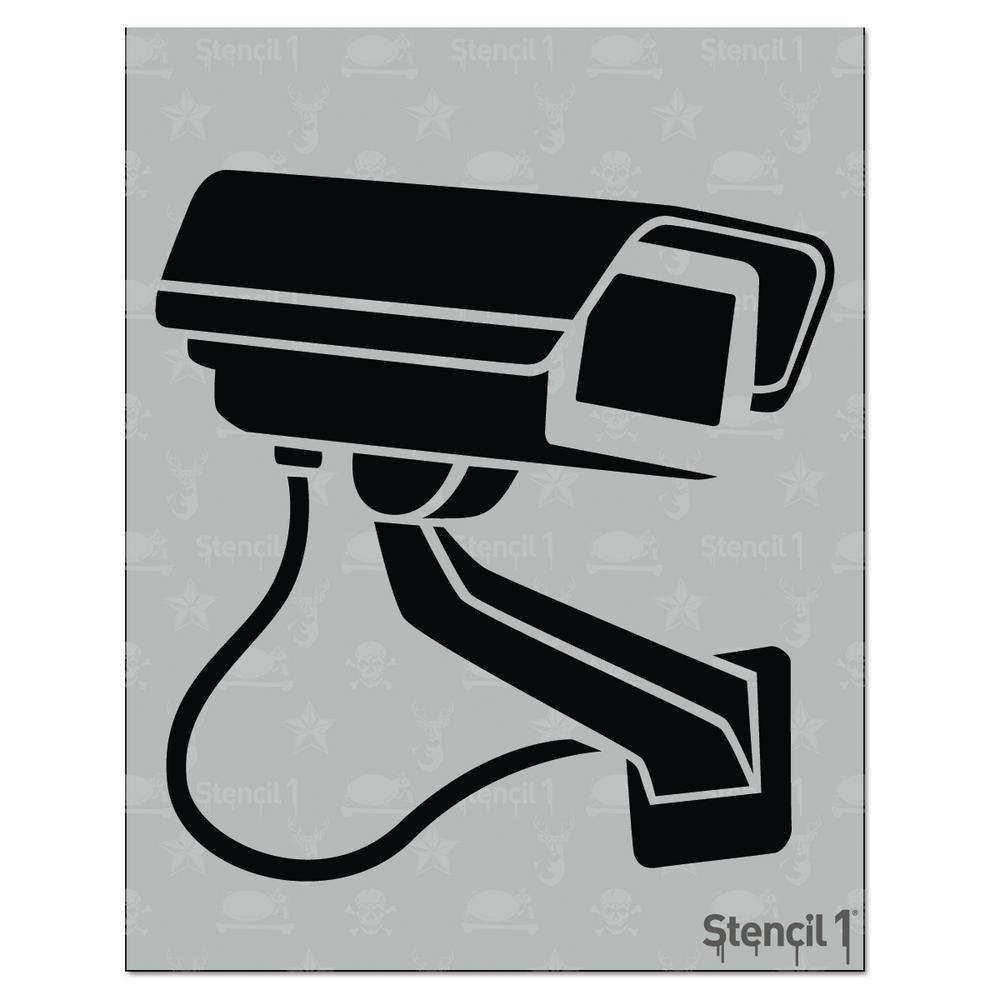 Surveillance Camera Stencil