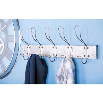 30 in. x 11 in. Galvanized Metal Wall Hook