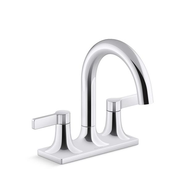 Venza 4 in. Centerset 2-Handle Bathroom Faucet in Polished Chrome