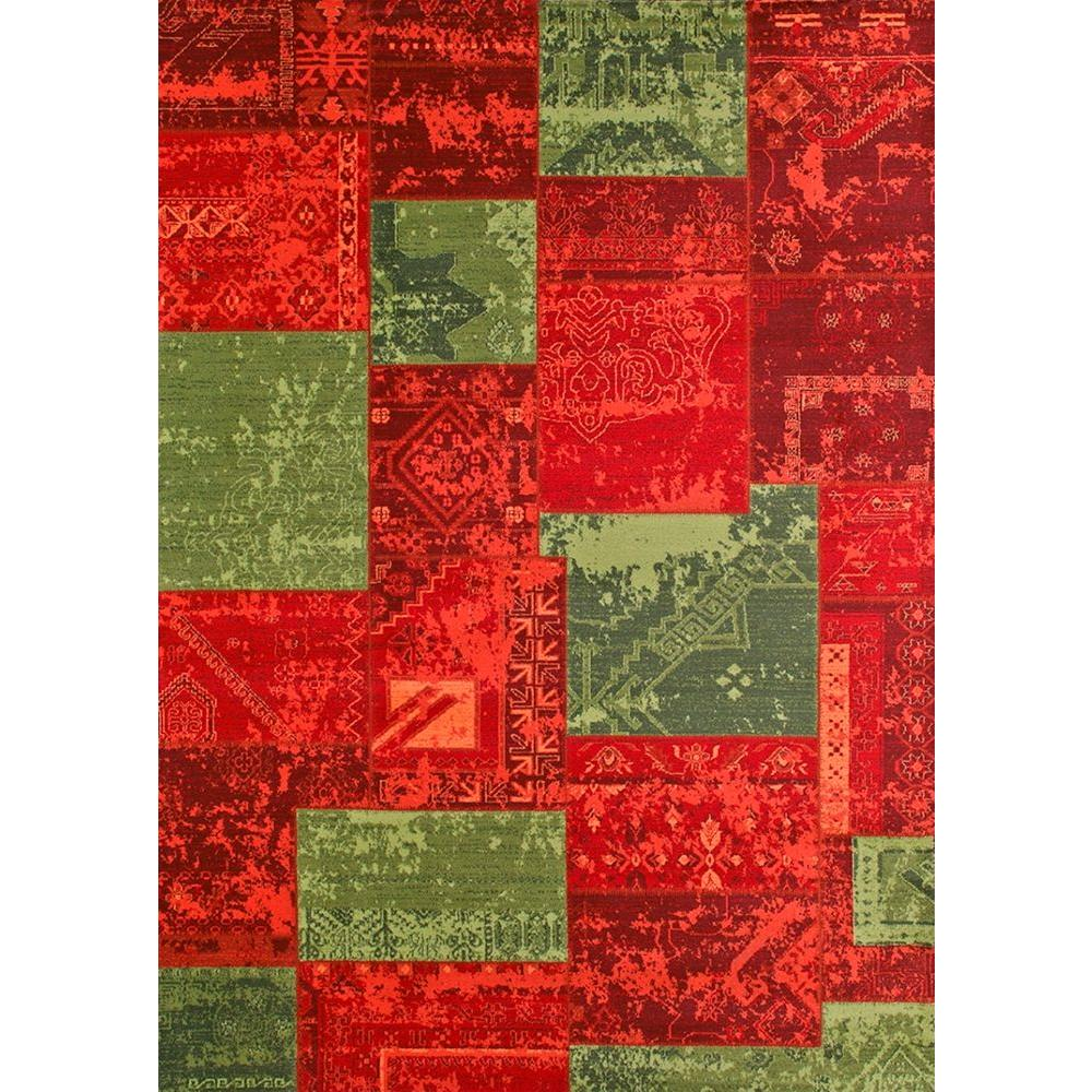 United Weavers Hathaway Olive 5 ft. 3 in. x 7 ft. 2 in. Area Rug