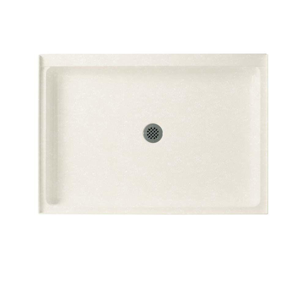 34 in. x 42 in. Solid Surface Single Threshold Center Drain