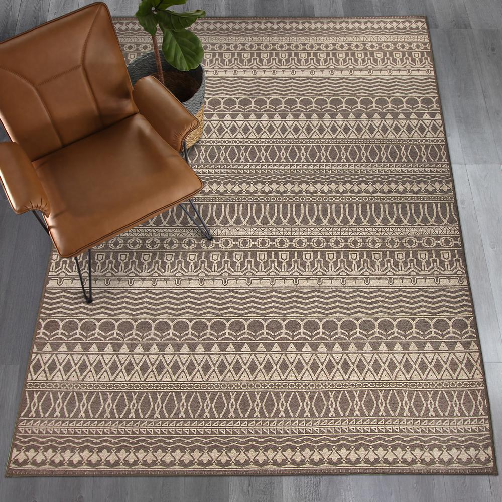 Ruggable Washable Cadiz Espresso 3 ft. x 5 ft. Stain Resistant Accent Rug