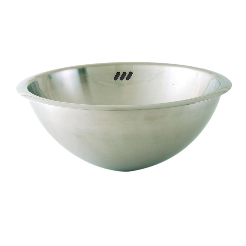 DECOLAV Simply Stainless Drop-In Bathroom Sink in Brushed Stainless Steel