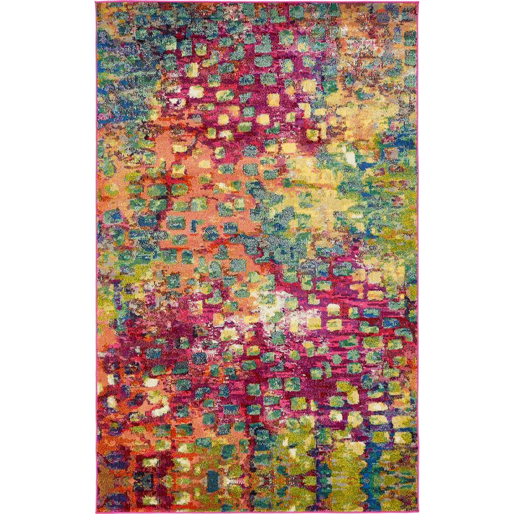 Unique Loom Barcelona Multi 5 X 8 Rug