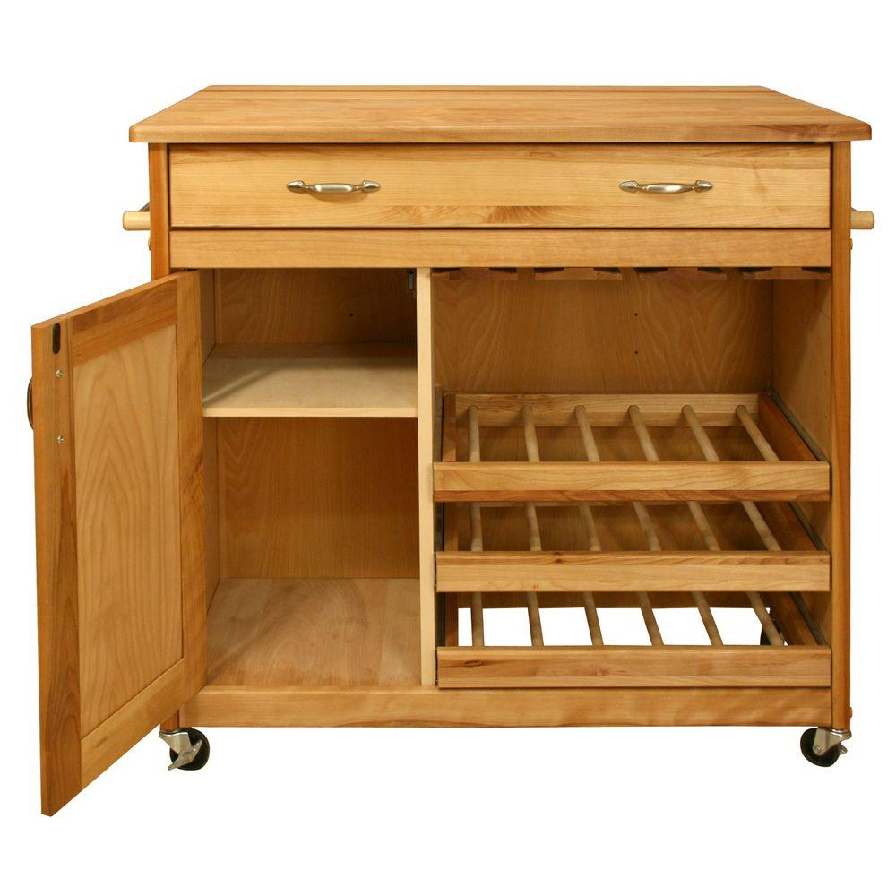Catskill Craftsmen 40 in. Mid-Sized Wine Island-DISCONTINUED
