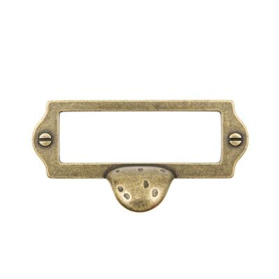 3 in. Antique Brass Cardholder with Finger Pull