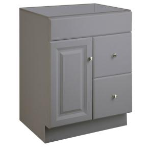 Wyndham 24 in. W x 18 in. D Ready to Assemble Bath Vanity Cabinet Only in Gray