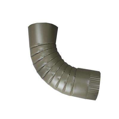 4 in. Round Terratone Aluminum Downpipe Elbow