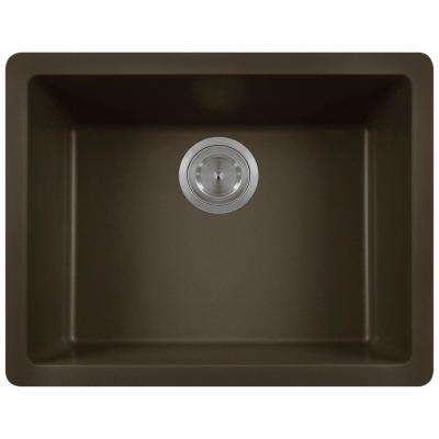 Dualmount Composite 22 in. Single Bowl Kitchen Sink in Mocha