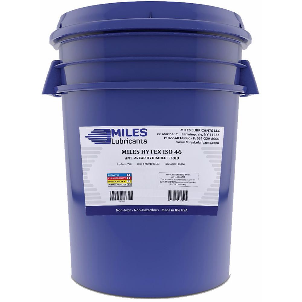 Miles Lubricants Hytex 5 Gal  ISO 46 Anti-Wear Hydraulic Fluid Pail