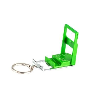 Micro-Light Smartphone Stand with Key Chain in Green Col, Bottle Opener, Microlight, Can Opener, Mobile Phone Stand