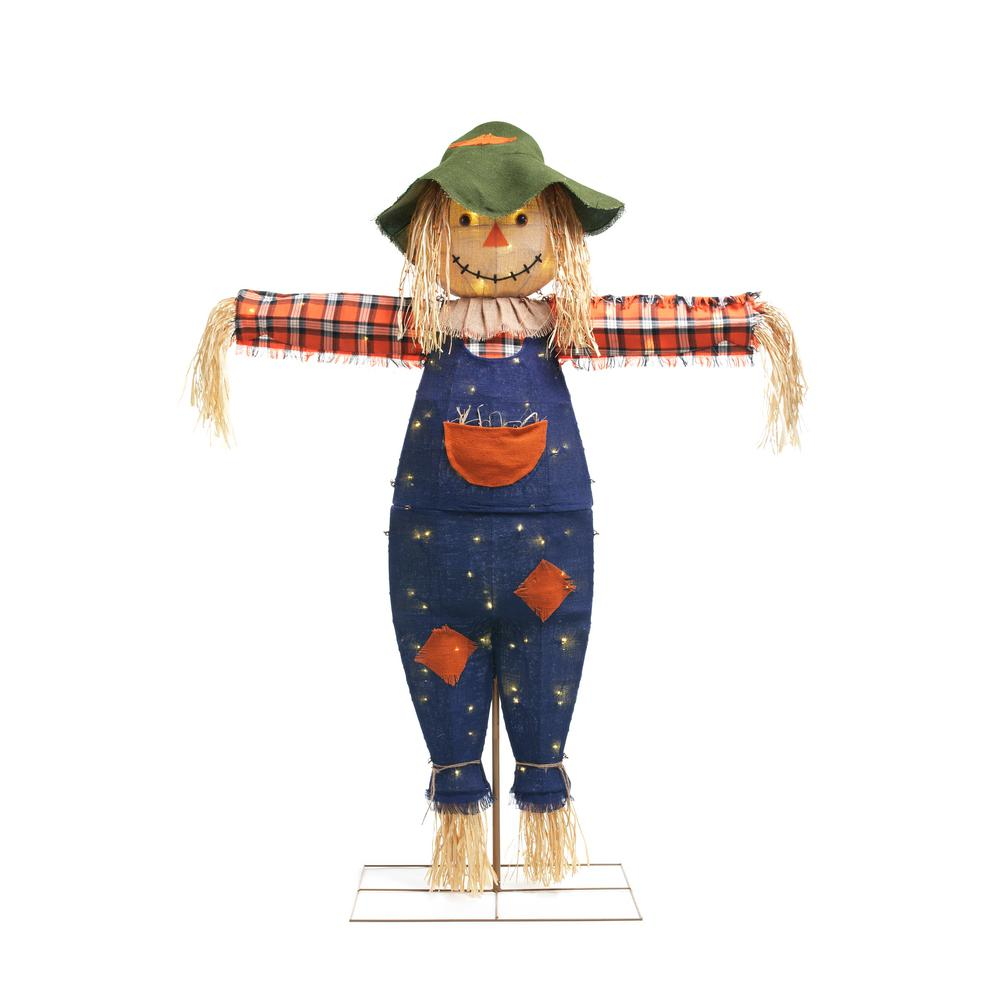 Home Accents Holiday 72 in. Burlap Scarecrow
