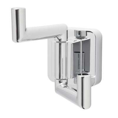 Kubos Double Robe Hook in Polished Chrome