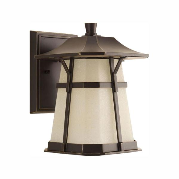 Derby Collection 1-Light 11.25 in. Outdoor Antique Bronze LED Wall Lantern Sconce